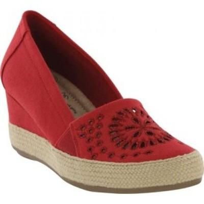 ミア Mia レディース エスパドリーユ ウェッジソール シューズ・靴 Amore Franki Espadrille Wedge Red Canvas