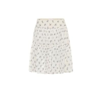 クロエ Chloe レディース ミニスカート スカート Floral silk miniskirt Whitegrey