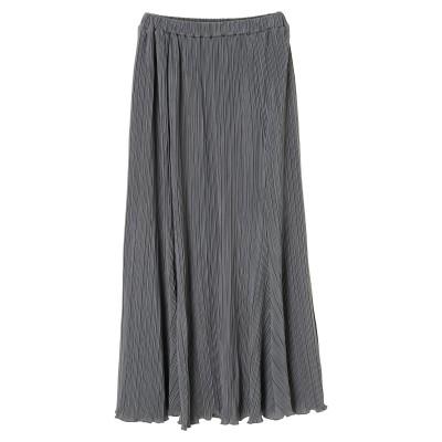 プリーツサテンロングスカート