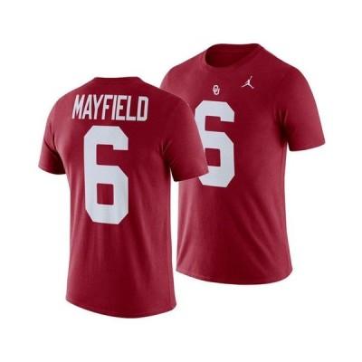 ナイキ メンズ Tシャツ トップス Men's Baker Mayfield Oklahoma Sooners Future Star Replica T-Shirt