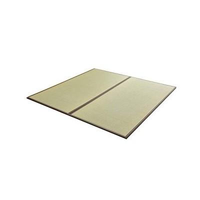 国産 い草 置き畳 ユニット畳 82×164cm「 あぐら 4枚セット 新 」ブラウン(#8326209x4) 長方形 畳 ユニット 畳マッ