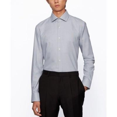 ヒューゴボス シャツ トップス メンズ BOSS Men's Gordon Regular-Fit Shirt Black