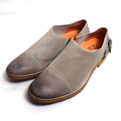 ラウディ RAUDI スリッポン男性靴 R-92102 40 オーク 約25.5cm メンズ スエード/中古/美品/質屋出店