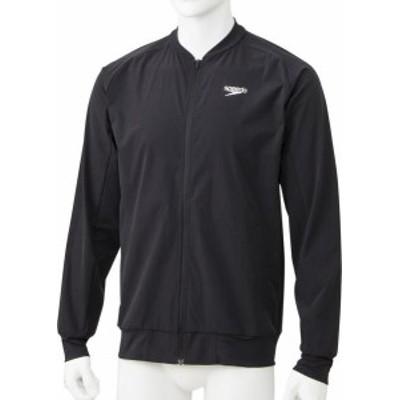 スピード 水泳 スタンダードジャケット 19SS ブラック ウインドウェア(sa01901-k)
