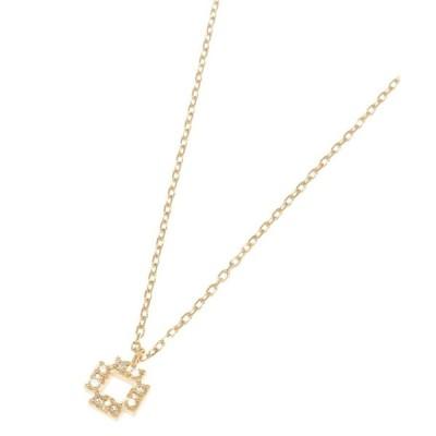 COCOSHNIK / ココシュニック ダイヤモンド ジオメスクエア ネックレス