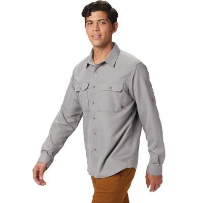 (取寄)マウンテンハードウェア キャニオン ロングスリーブ シャツ - メンズ Mountain Hardwear Canyon Long-Sleeve Shirt - Men's Manta Grey