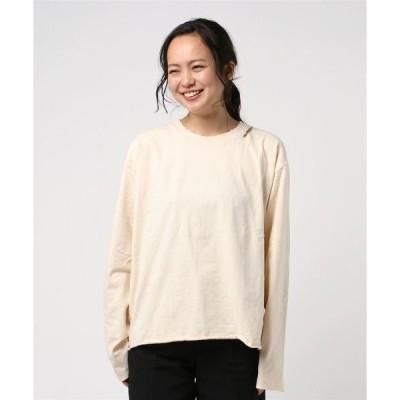 tシャツ Tシャツ BEAVER ORIGINAL/ビーバーオリジナル WS DAMAGED L/S T ウィメンズダメージロングスリーブティー