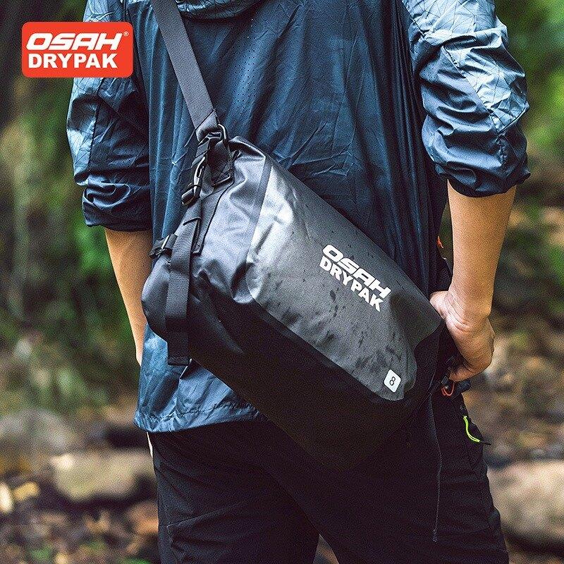 【SENHO】OSAH 8L 戶外防水腰包 防水側背包 戶外腰包 郵差包 時尚腰包 溯溪 輕盈腰包 防水包 防水袋