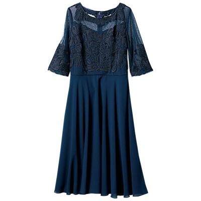 Ranan コード刺しゅうデザインフレアードレス