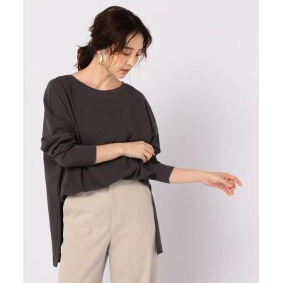 (NOLLEY'S/ノーリーズ)バックスナップTシャツ/レディース チャコールグレー