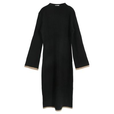 【ジュリアブティック】 パイピングハイネックニットロングワンピース/510499 レディース ブラック ONE Julia Boutique