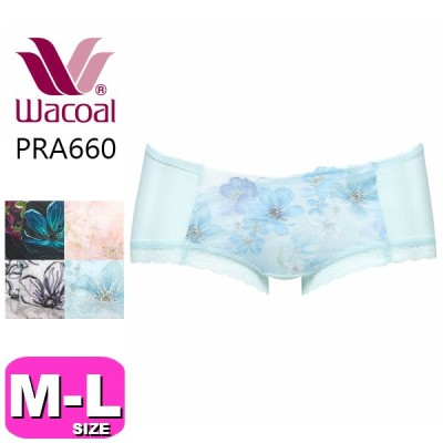 ワコール wacoal【メール便発送可】PRA660 リボンブラ 胸もとフィットながもち ペア ボーイレングスショーツ MLサイズ WB