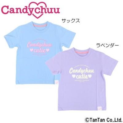 Candychuu キャンディチュウ 半袖Tシャツ 女の子 フロントロゴ ゆったり シンプル キッズ ジュニア 子供服 ネコポス便OK 新作 2102 C
