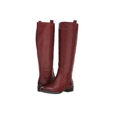 サム エデルマン Prina Leather Tall Boot レディース ブーツ Redwood Brown Neymar Leather