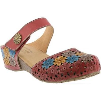 スプリングステップ L'Artiste by Spring Step レディース クロッグ シューズ・靴 Spikey Clog Red Multi Leather