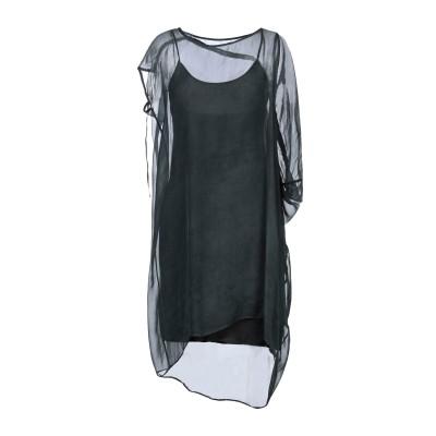 マスナダ MASNADA ミニワンピース&ドレス ダークグリーン 40 シルク 100% ミニワンピース&ドレス