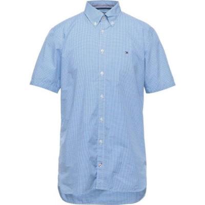 トミー ヒルフィガー TOMMY HILFIGER メンズ シャツ トップス Checked Shirt Azure
