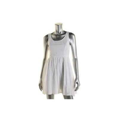 ドレス 女性  海外セレクション Fire Los エンジェルes 1103 レディース アイボリー Eyelet ノースリーブ Tank ドレス S