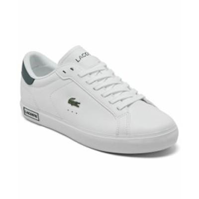 ラコステ レディース スニーカー シューズ Women's Powercourt Casual Sneakers from Finish Line White, Dark Green