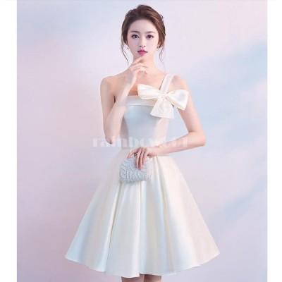 ウエディングドレス ミモレ丈ドレス  パーティードレス 結婚式 ワンピース 大きいサイズ 20代30代40代 きれいめ お呼ばれ 卒業式 発表会 披露宴 上品