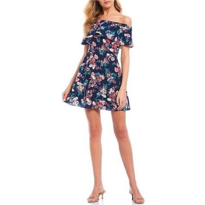 ビーダーリン レディース ワンピース トップス Off-The-Shoulder Flounce Floral Dress