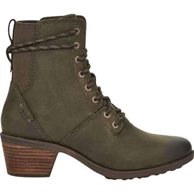 テバ Teva レディース ブーツ レースアップブーツ シューズ・靴 Anaya Lace Up Waterproof Boot Dark Olive