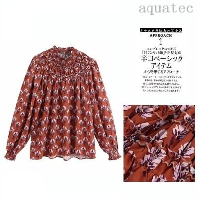 プリント長袖シャツ 女性のトップス かわいい 赤いシャツ 夏