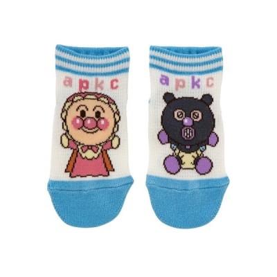 靴下 【アンパンマン】赤ちゃん柄メッシュショートソックス