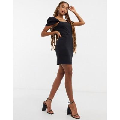 ミス セルフリッジ Miss Selfridge レディース ワンピース ミニ丈 ワンピース・ドレス Puff Sleeve Mini Dress ブラック