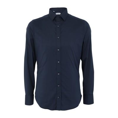 LIBERTY ROSE シャツ ダークブルー 39 コットン 96% / ポリウレタン 4% シャツ