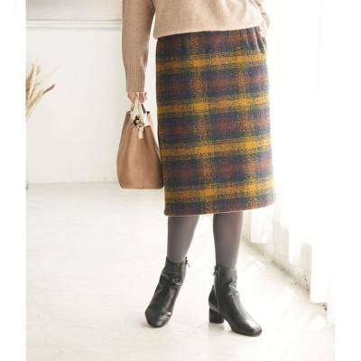 【ロペピクニック/ROPE' PICNIC】 【WEB限定カラー:ベージュ】BIGチェックアイラインスカート