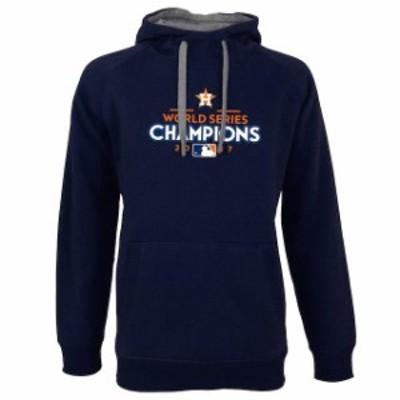 Antigua アンティグア スポーツ用品  Antigua Houston Astros Navy 2017 World Series Champions Victory Pullover Hoodie