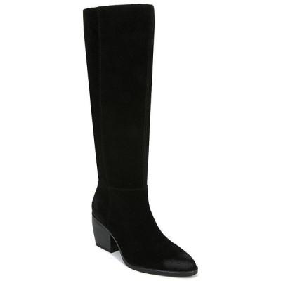 ナチュライザー レディース ブーツ&レインブーツ シューズ Fae Slouch Suede Wide Calf Block Heel Boots Black Suede WC