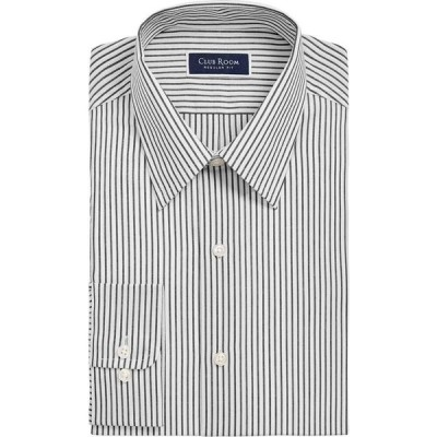 クラブルーム Club Room メンズ シャツ トップス Classic/Regular-Fit Stripe Dress Shirt White Black
