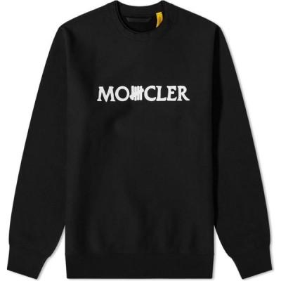 モンクレール Moncler Genius メンズ スウェット・トレーナー トップス 2 Moncler 1952 x Undefeated Logo Text Crew Sweat Black