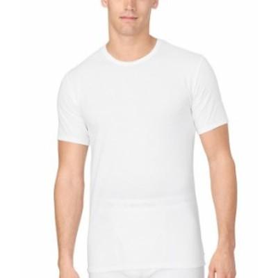 カルバンクライン メンズ Tシャツ トップス Cotton Stretch 2-Pack Crewneck Under Shirts White