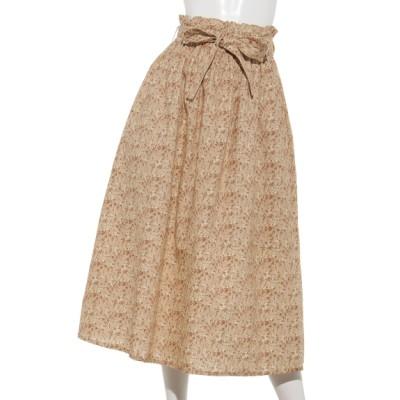Samansa Mos2 (サマンサ モスモス) レディース 小花柄ギャザースカート オレンジ フリー
