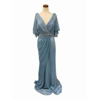 JEANMACLEAN ドレス ジャンマクレーン キャバドレス ナイトドレス ロングドレス jean maclean ライトブルー 青 9号 M 91690 クラブ スナ