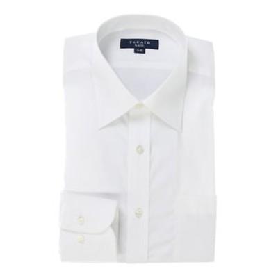 形態安定スリムフィットブロードレギュラーカラー長袖ビジネスドレスシャツ/ワイシャツ