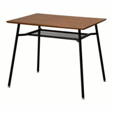 anthem アンセム ダイニングテーブル 幅90cm スチール ブラック 省スペース 机 食卓 デスク 作業台(代引不可)【送料無料】