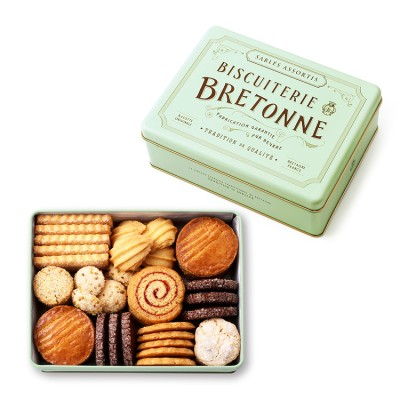 ビスキュイテリエ ブルトンヌ ブルターニュ クッキーアソルティ<缶>47個入