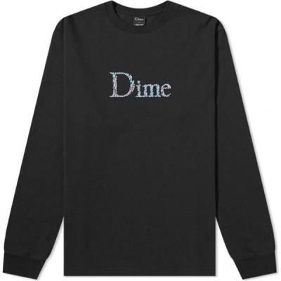 ダイム Dime メンズ 長袖Tシャツ ロゴTシャツ トップス Long Sleeve Scribble Classic Logo Tee Black