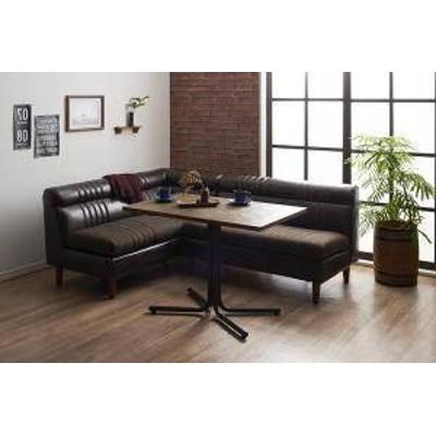 ダイニングテーブルセット 4人用 コーナーソファー L字 l型 ベンチ 椅子 おしゃれ 安い 北欧 食卓 レザー 合皮 カウチ 3点 ( 机+2Pソファ