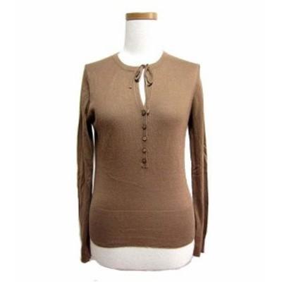 ADAM ET ROPE' プルオーバーリボンニットセーター (Pullover ribbon knitting sweater) アダムエロペ カーディガン 046513【中古】