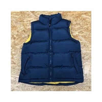 CINEMA Mサイズ レディース ベスト 中綿入り ノースリーブ ジャケット ハイネック ポリエステル100% ネイビー 紺