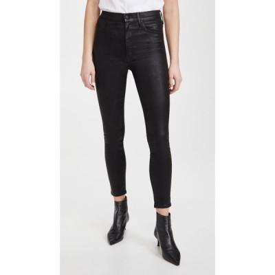 マザー MOTHER レディース ジーンズ・デニム ボトムス・パンツ The Swooner Ankle Jeans Black/Black