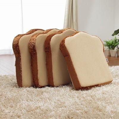 クッション おもしろ かわいい 座いす 座椅子 フロアクッション パン 食パン トースト パンクッション 4枚セット