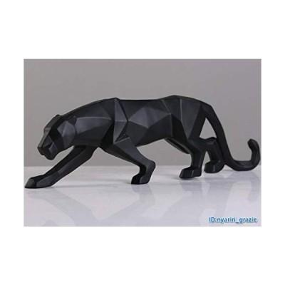現代彫刻 パンサー ブラック 樹脂 ヒョウ像 オーナメント ホームアクセサリー 家具 2