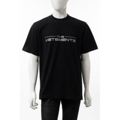 ヴェトモン Vetements Tシャツ 半袖 丸首 クルーネック ブラック メンズ (UE51TR410B) 送料無料 2021年春夏新作