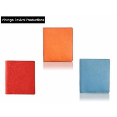 [ビンテージリバイバルプロダクションズ] Vintage Revival Productions 二つ折り財布 日本製 軽量 薄型 シュリンクレザー 59207